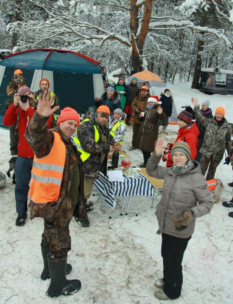 Щелковские РОСы Новый год тренировка охота на фазана